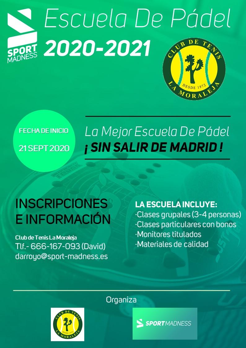Carteles Escuela de Padel Sportmadness